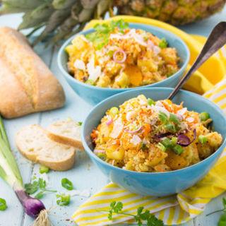 Herzhafter Curry-Reis-Salat