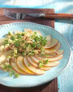 Apfelcarpaccio mit Avocado