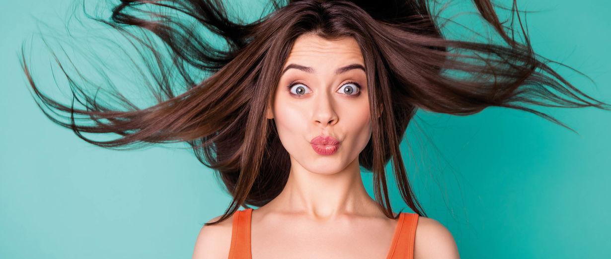 Schwungvolle Haare