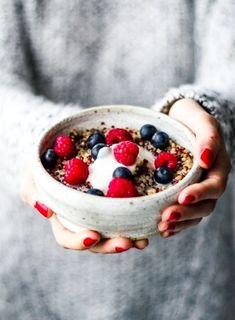 Quinoa-Porridge mit Zimt und Mandelmilch